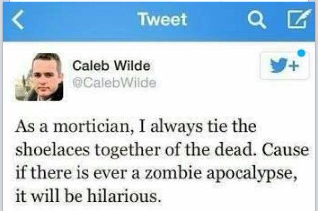 Shoelaces and Zombie apocalypse