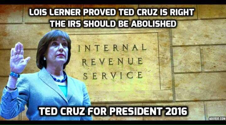 Ted Cruz abolish IRS