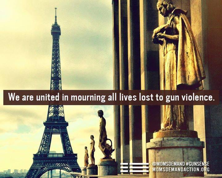 Blaming gun violence