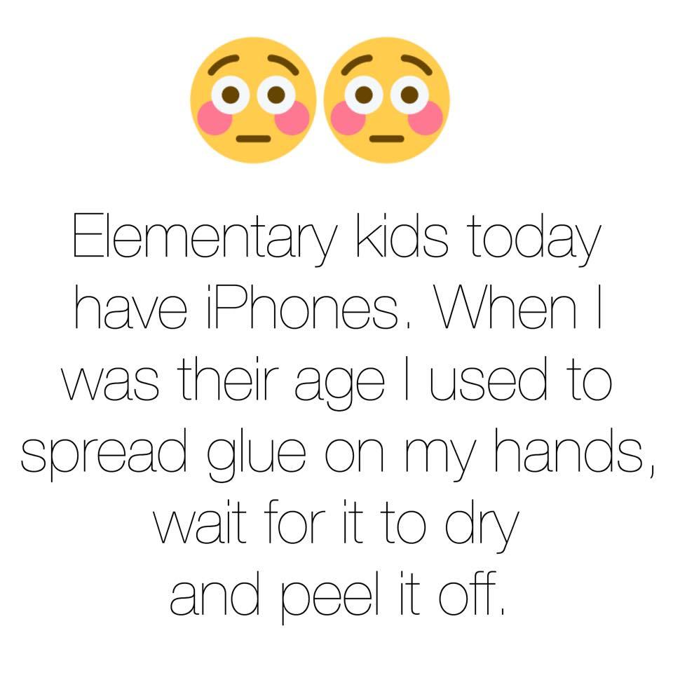 Cell phones versus peeling glue