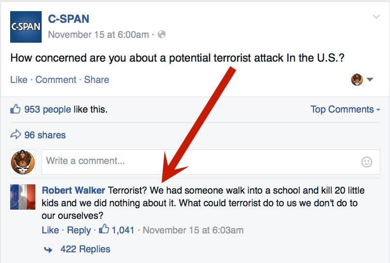 Comparing random shootings to ISIS