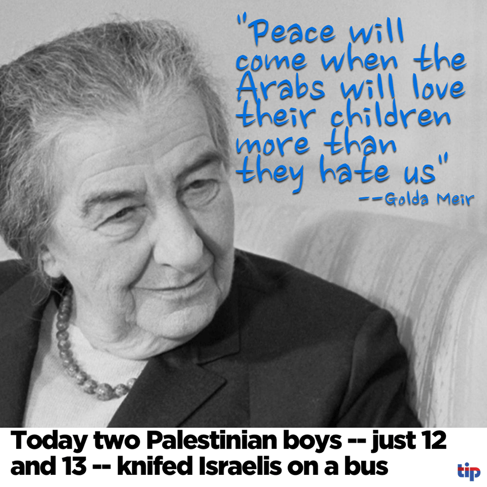 Golda Meir on peace with Arabs