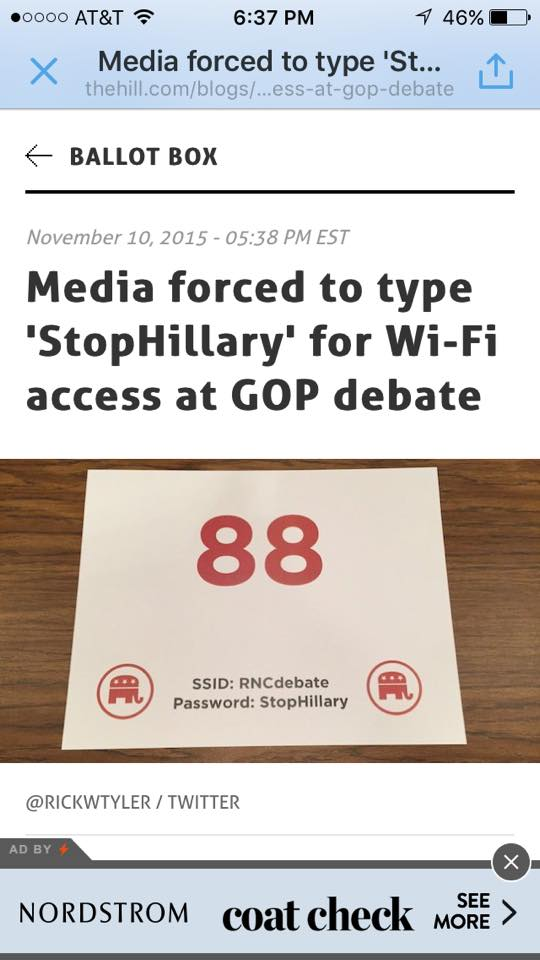 Media forced to type StopHillary