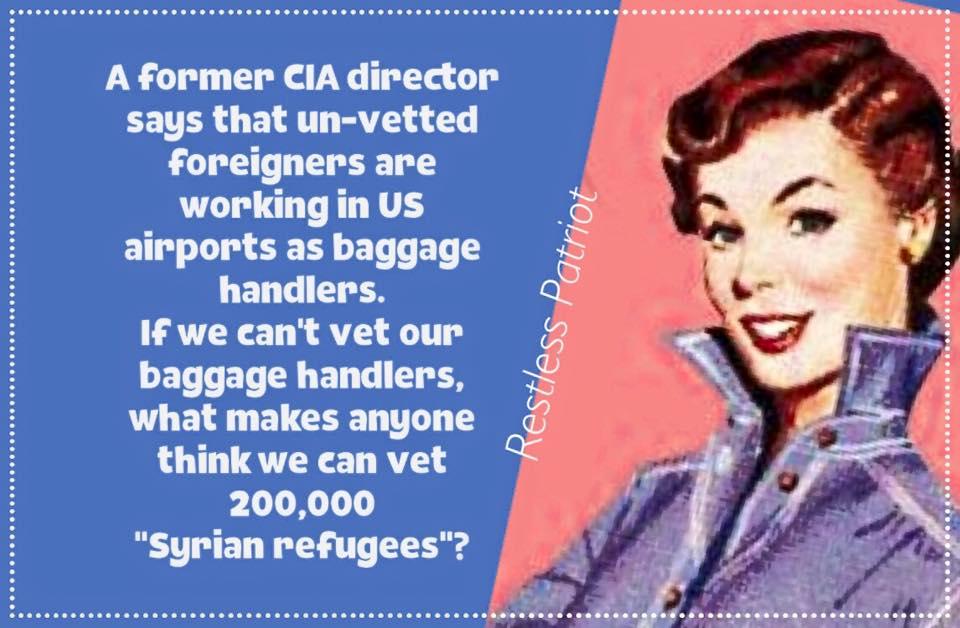 Not vetting baggage handlers