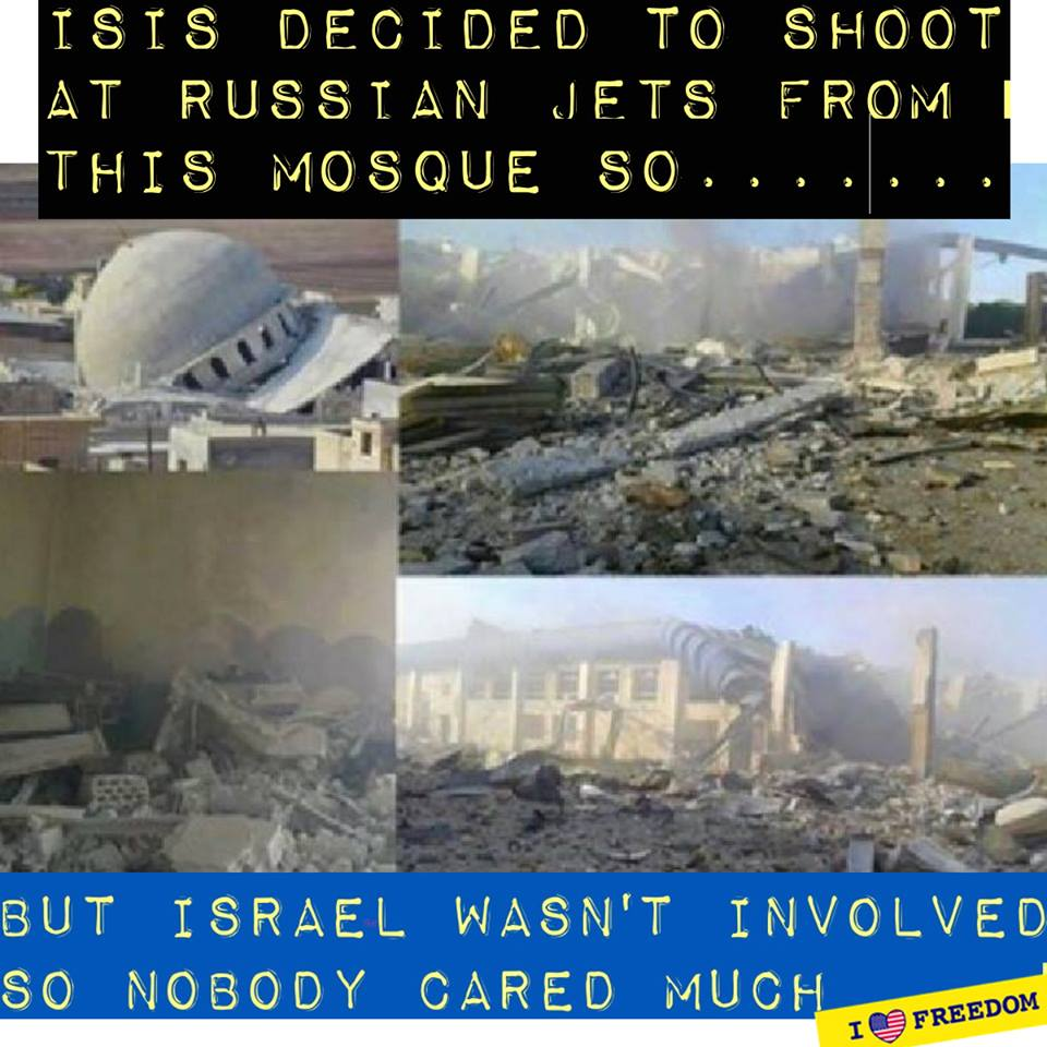 Only Israel can't destroy weaponized mosques