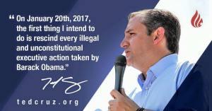 Ted Cruz rescinding Obama