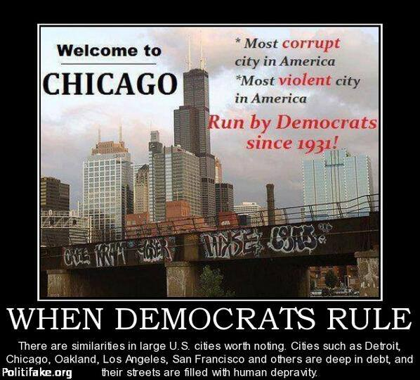 Democrat run cities like Chicago