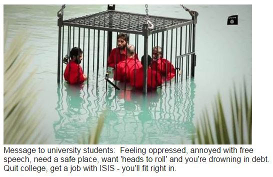 ISIS the job for fragile college students