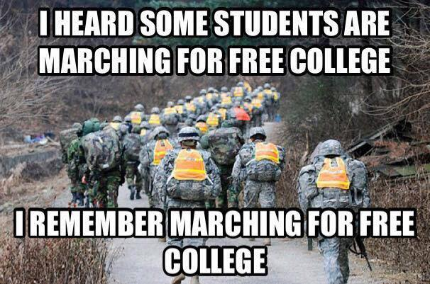 Marching for free college