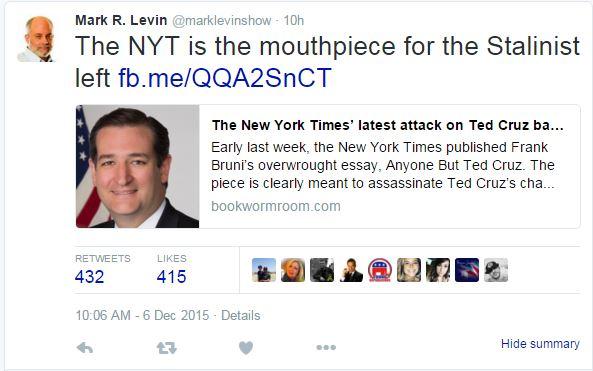 Mark Levin Twitter