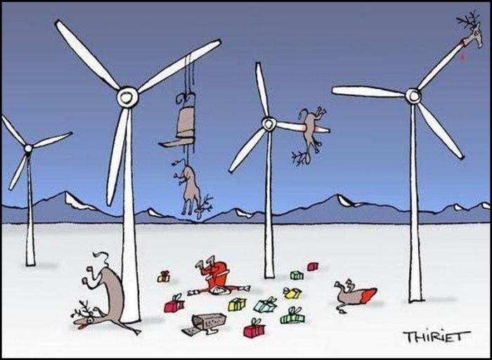 Wind generators and Santa tangle