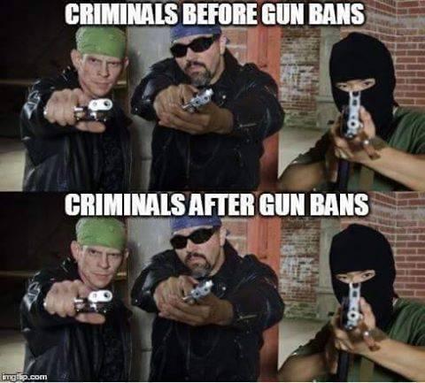 criminals before and after gun bans