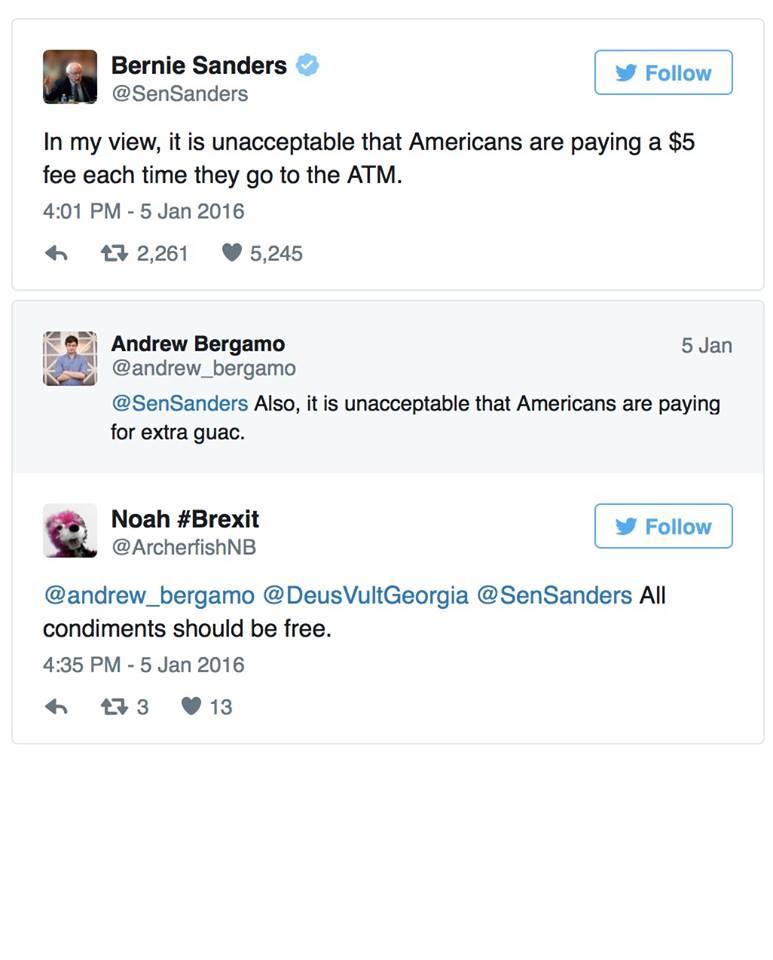 Bernie goes stupid on ATMS