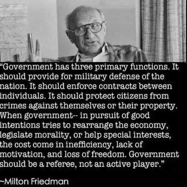 Milton Friedman on government's role