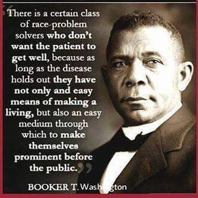 Booker T. Washington re race mongers