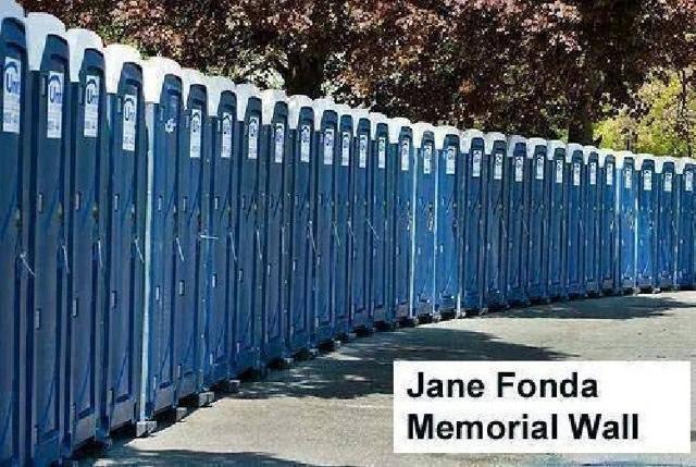 Jane Fonda Memorial wall