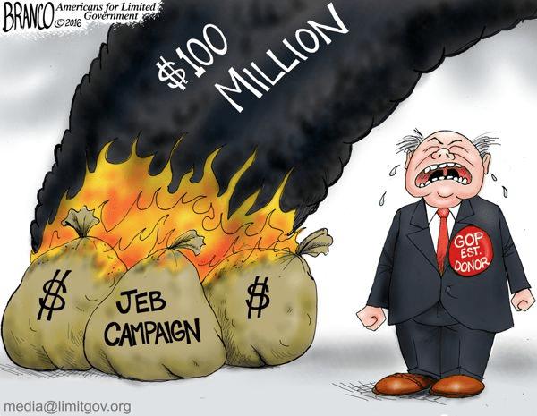 Jeb burned through money