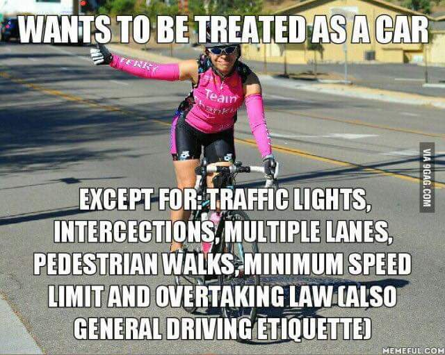 Rude bicyclists