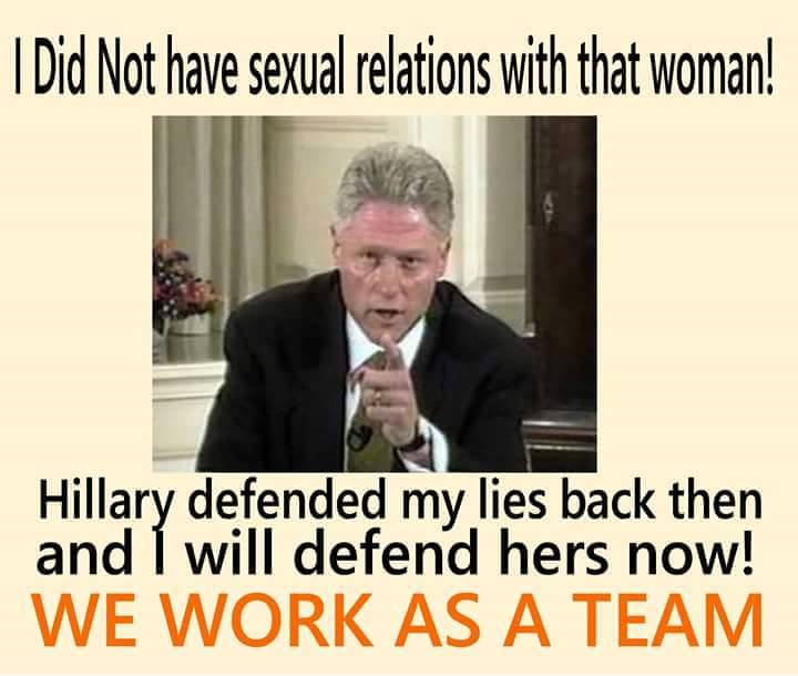 Bill and Hillary Clinton lie for each other