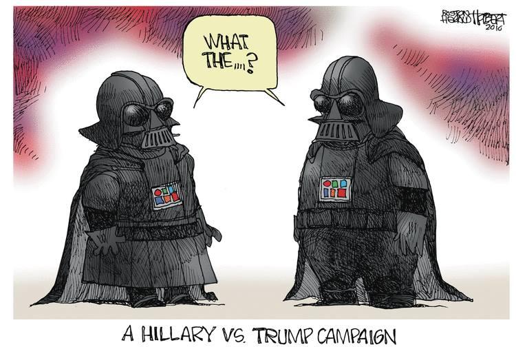 Hillary v Trump campaign