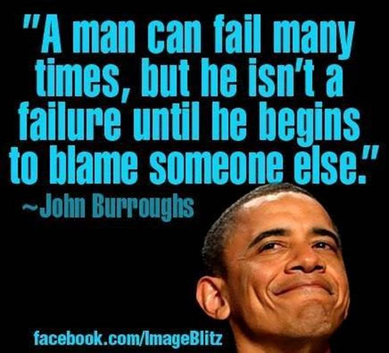 Man a failure only when he blames others