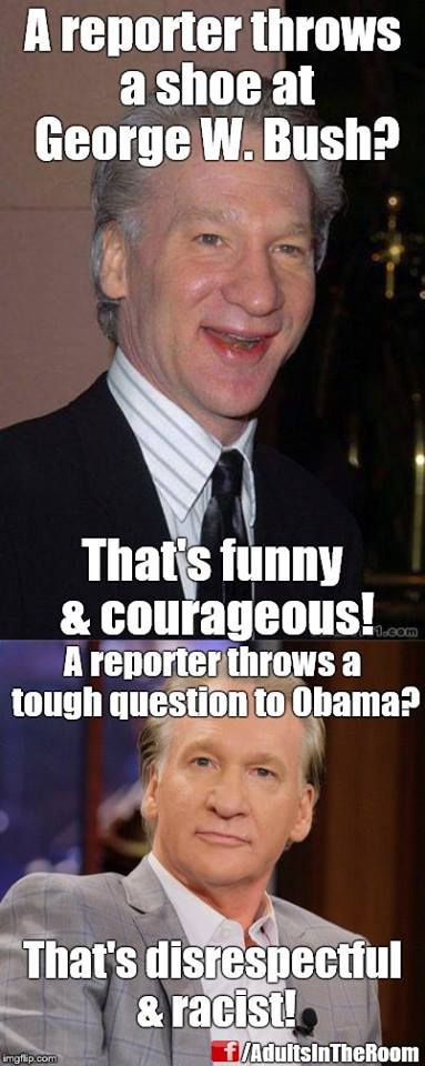 Media Obama Bill Maher questions George Bush shoe