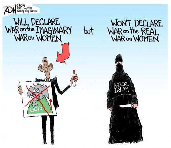 Obama fights imaginary war on women ignores Islam