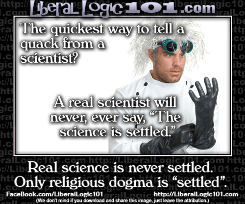 Real science never settled