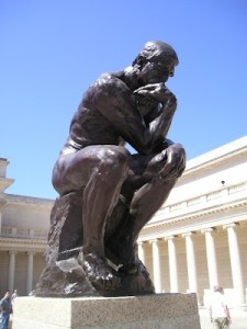 The Thinker at the Legion of Honor