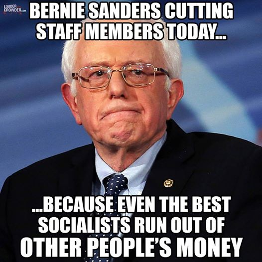 Bernie Sanders other people's money