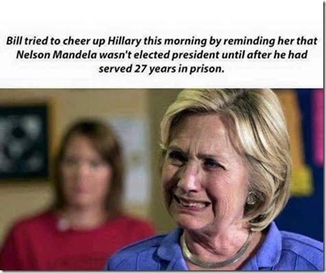 Hillary prison Nelson Mandela