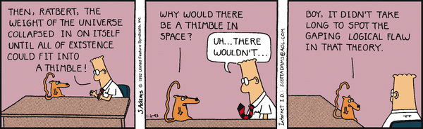 Silly Dilbert universe black holes