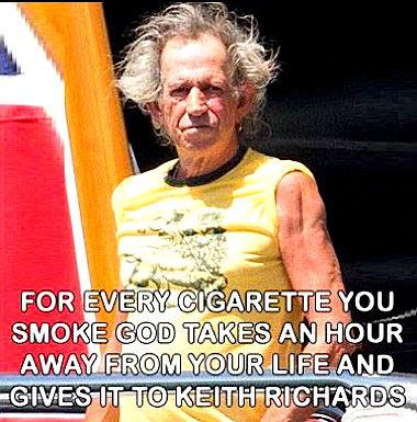 Silly smoking Keith Richards