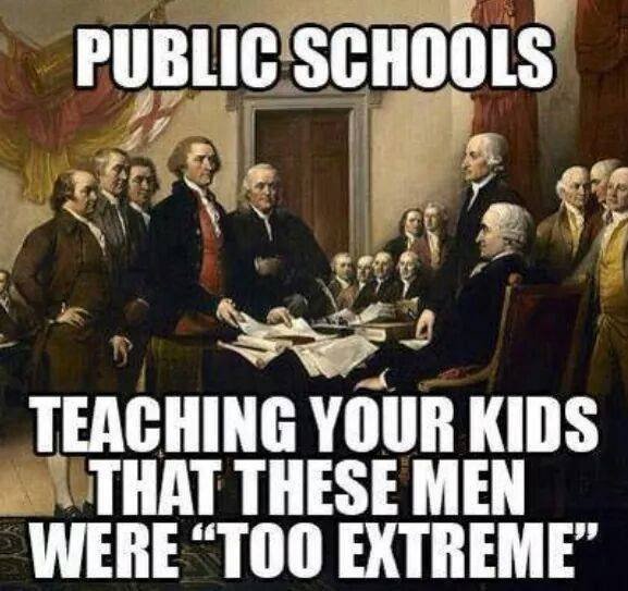Stupid liberals public schools founding fathers