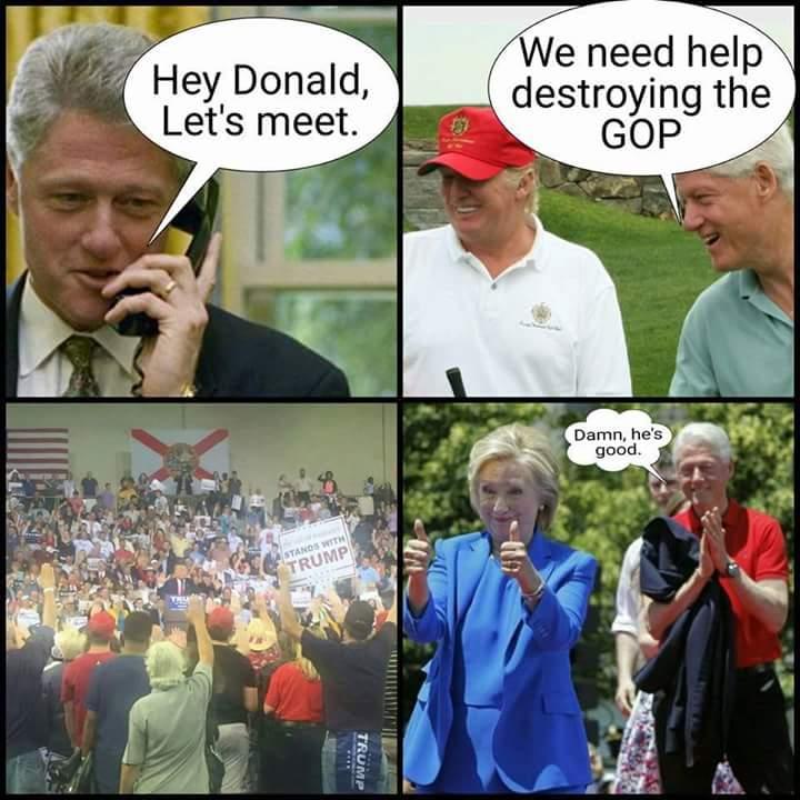 Trump ties to Clintons