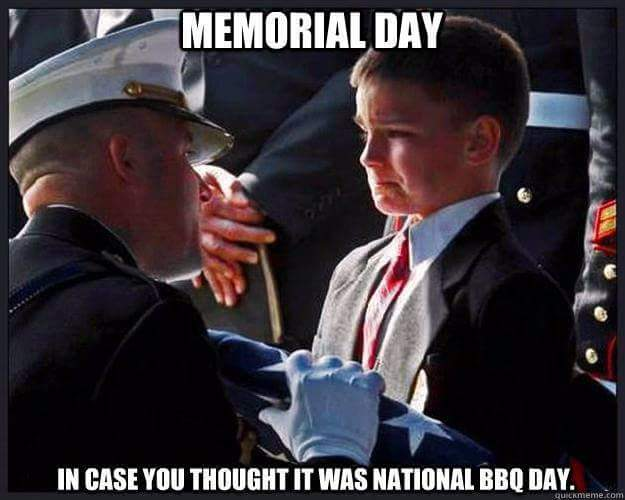 Military Memorial Day not barbecue day