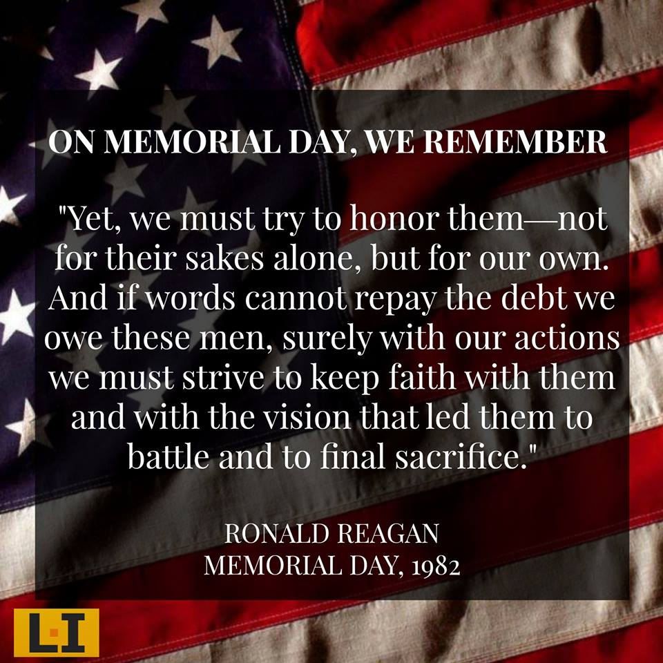 Military Ronald Reagan on Memorial Day