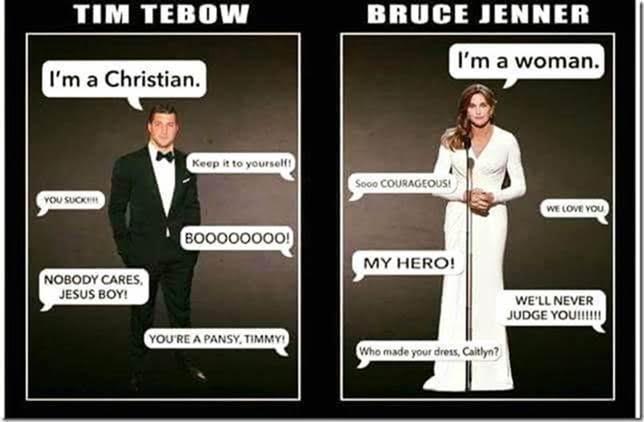 Stupid liberals Tebow v Jenner