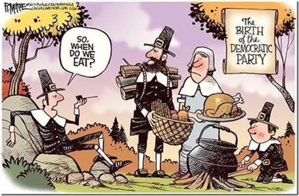 Stupid liberals the parasite at Thanksgiving