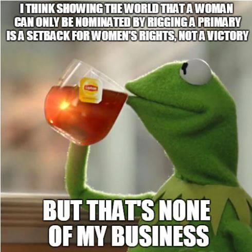 Hillary setback for women