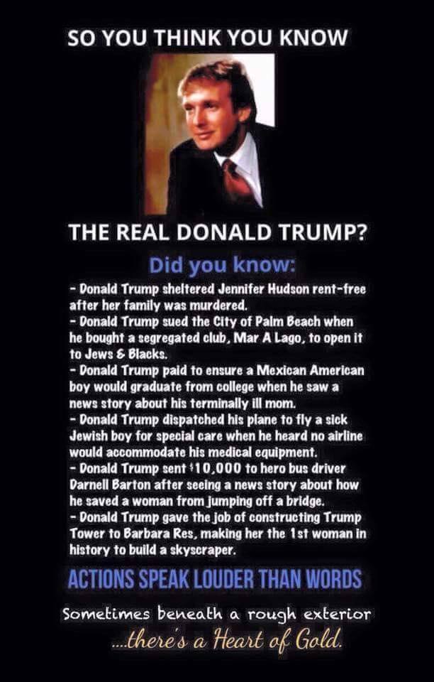 Trump a good guy