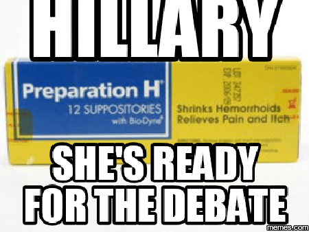 Hillary ready for debate