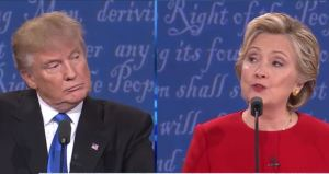 Presidential debate Trump and Clinton