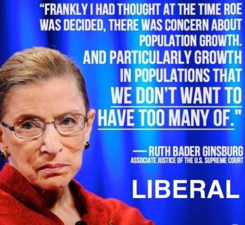 Race Ruth Bader Ginsburg approves eugenics abortion