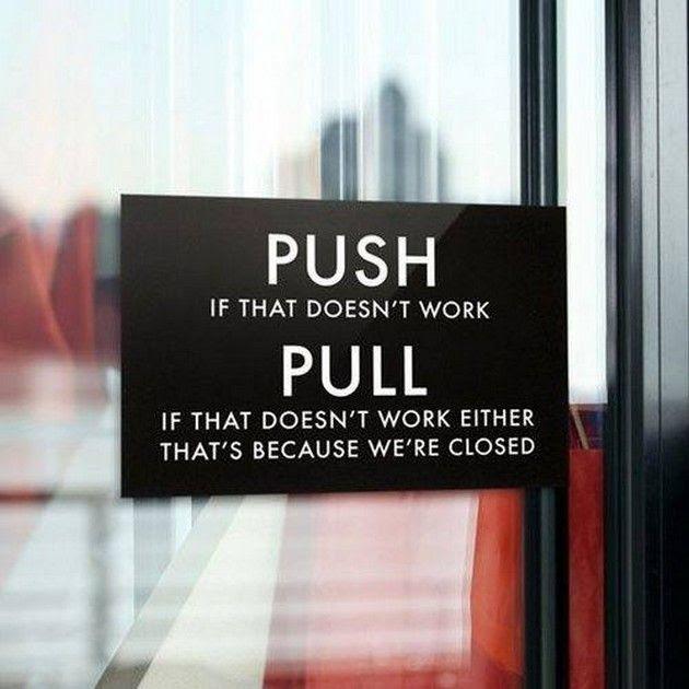 Silly stuff door push pull