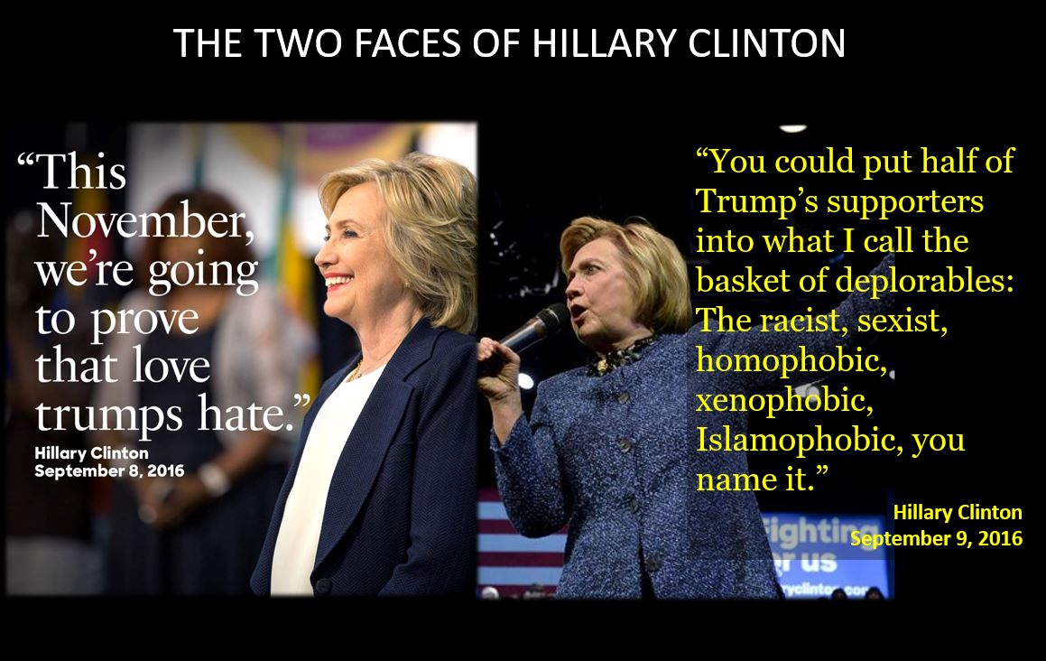 The two faces of Hillary Clinton