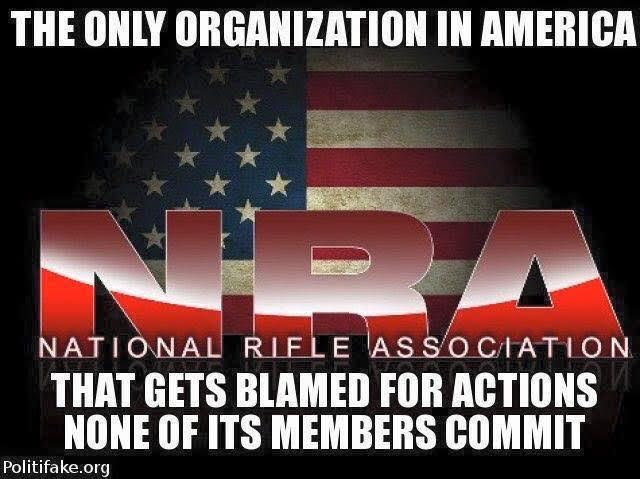 gun NRA blamed for actions members did not commit