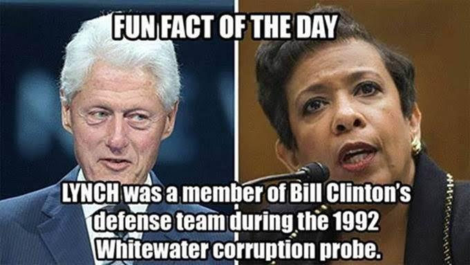 Hillary free Lynch used to work for Bill during Whitewater