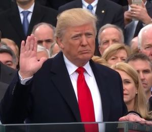 President Trump's America oath of office
