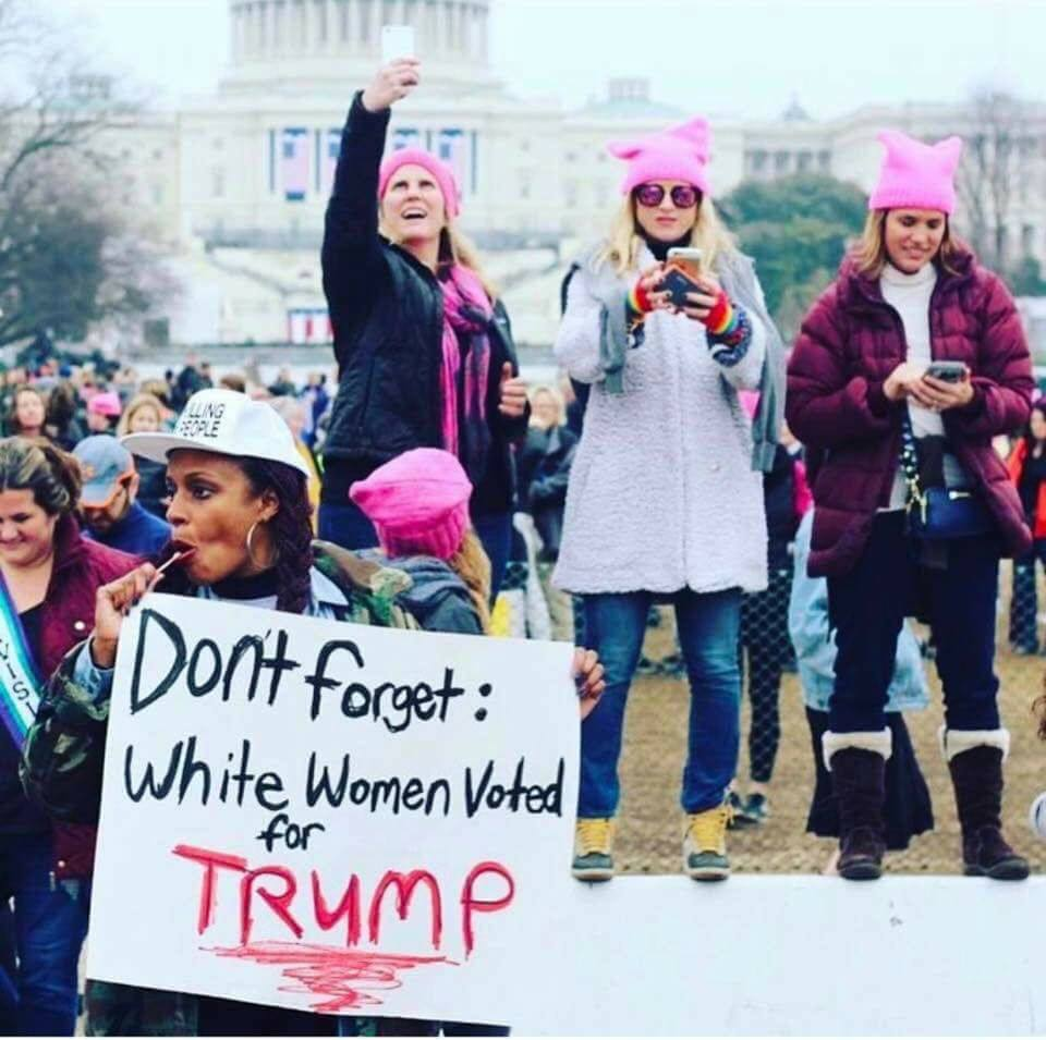 Die, white women, die! It's the end of the world and it's all your fault.